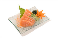 Salmon SashimiFresh Norway Salmon Sashimi 5pcs. Stock Photo
