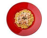 Salmon Sauced Pasta Royalty Free Stock Photo
