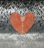 Salmon Scales, cierre para arriba Fotografía de archivo libre de regalías