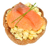 Salmon And Scrabbled Eggs On Toast Royalty Free Stock Photos