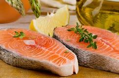 Salmon .Selective focus Royalty Free Stock Photos