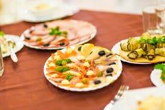 Salmon seshimi . traditional japanese food Royalty Free Stock Photo