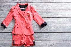 Salmon short suit. Stock Images