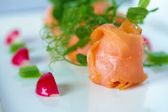 Salmon Shot affumicato Immagine Stock Libera da Diritti