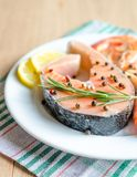 Salmon & shrimps Royalty Free Stock Image