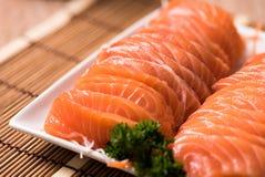 Salmon shsimi Стоковое Изображение RF