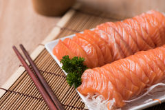 Salmon shsimi Стоковая Фотография RF