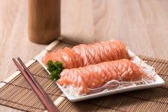 Salmon shsimi Стоковые Изображения RF