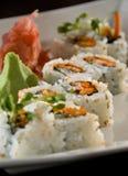 Salmon skin maki. Sushi roll Stock Photo