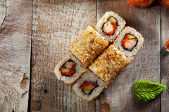 Salmon Skin Roll Stock Images