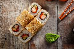Salmon Skin Roll Stock Image