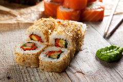 Salmon Skin Roll Royalty Free Stock Photography