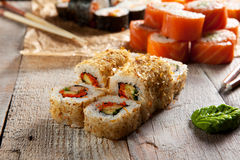 Salmon Skin Roll Stock Photo