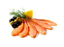 Salmon Slice Stock Image