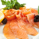 Salmon Slice Immagine Stock