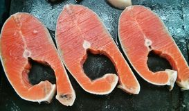 Salmon Slice Fotografia de Stock