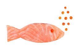 Salmon slice caviar concept Royalty Free Stock Photo