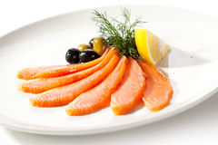 Salmon Slice Royalty Free Stock Images