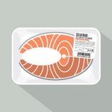 Salmon Sliced Pack Image libre de droits