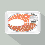 Salmon Sliced Pack. Royalty Free Stock Image