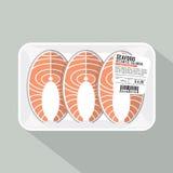Salmon Sliced Pack. Salmon Sliced Pack Vector Illustration Stock Photos