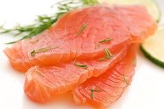 Salmon slices Royalty Free Stock Image
