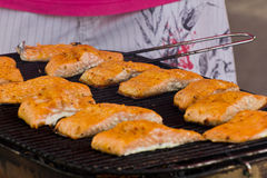 Salmon slices Royalty Free Stock Photo