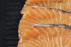 Salmon slices on Stock Photo