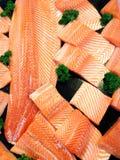 Salmon slices Stock Photography