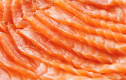 Salmon slices, close-up Stock Image