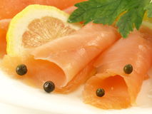 Salmon slices, closeup Royalty Free Stock Photos
