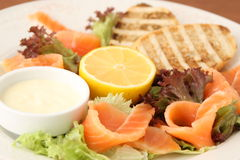 Salmon slices Royalty Free Stock Images