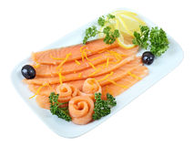 ?Salmon Slices Royalty Free Stock Images