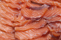 Salmon slices for sashimi Stock Photo