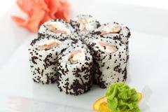 Salmon and Smoked Eel Maki Sushi Stock Images