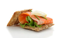 Salmon Snack Royalty Free Stock Photography