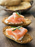 Salmon snack Stock Image