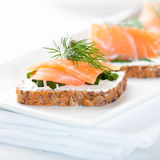 Salmon Snack Stock Photography