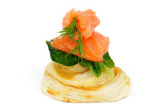 Salmon Snack royaltyfri fotografi