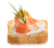 Salmon snack Royalty Free Stock Photo