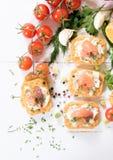 Salmon snacks Stock Image