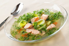 Salmon soup Royalty Free Stock Image