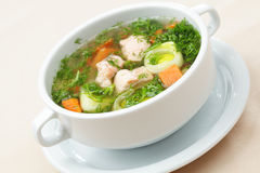 Salmon soup Royalty Free Stock Photos