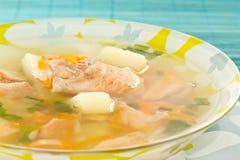 Salmon soup Royalty Free Stock Photography