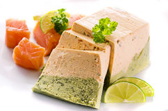 Salmon and Spinach Terrine Stock Photos
