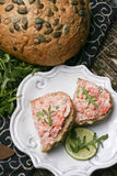 Salmon Spread Snack Stock Photos