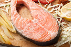 Salmon stake Royalty Free Stock Photography