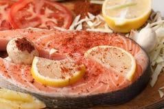 Salmon stake Stock Image