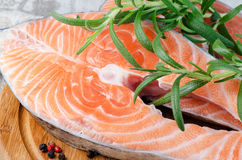 Salmon stake Stock Photography