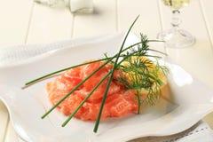 Salmon starter Royalty Free Stock Photos